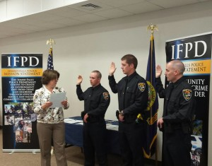 IDAHO FALLS — Three new officers were sworn into the Idaho Falls Police  Department Wednesday, Sept. 9.