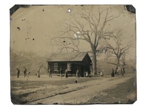 A newly discovered photograph features several of the Lincoln County Regulators, including legendary gunman, Billy the Kid. The photograph was purchased for $2 as a part of a miscellaneous lot at a Fresno junk shop in 2010, and will be the subject of a two-hour documentary airing Sunday, October 18th at 9/8c on National Geographic Channel. The 4×5 inch tintype not only depicts Billy the Kid, but several members of his gang, The Regulators, playing a leisurely game of croquet alongside friends, family, and lovers in the late summer of 1878. Taken just one month after the tumultuous Lincoln County War came to an end, it is a window into the lives of these gunmen as they were still fighting the injustices of a lawless land.  It's a carefree moment after an important life event - a wedding - which is rich in content, movement and texture.