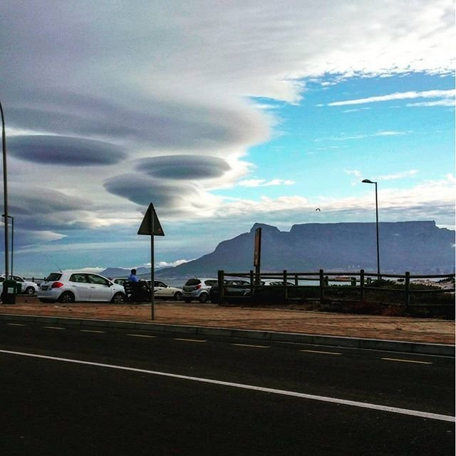 Strange clouds form over Cape Town, South Africa