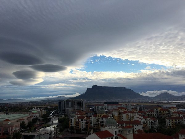 Crazy cloud formation over Cape Town