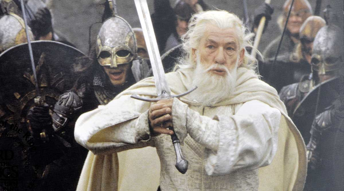 Image result for gandalf fighting