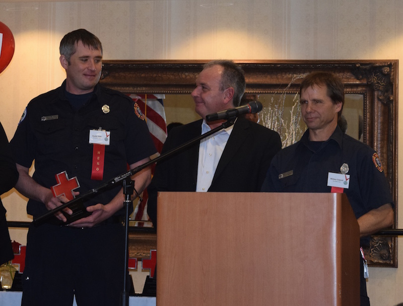 2016 Fire Safety Heroes Dustin Hale and Mickey Coward