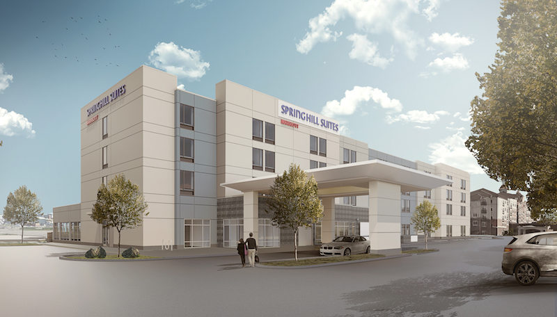 A Rendering Shows The New Hotel That Will Be Built In Idaho Falls Courtesy Of Woodbury Corporation