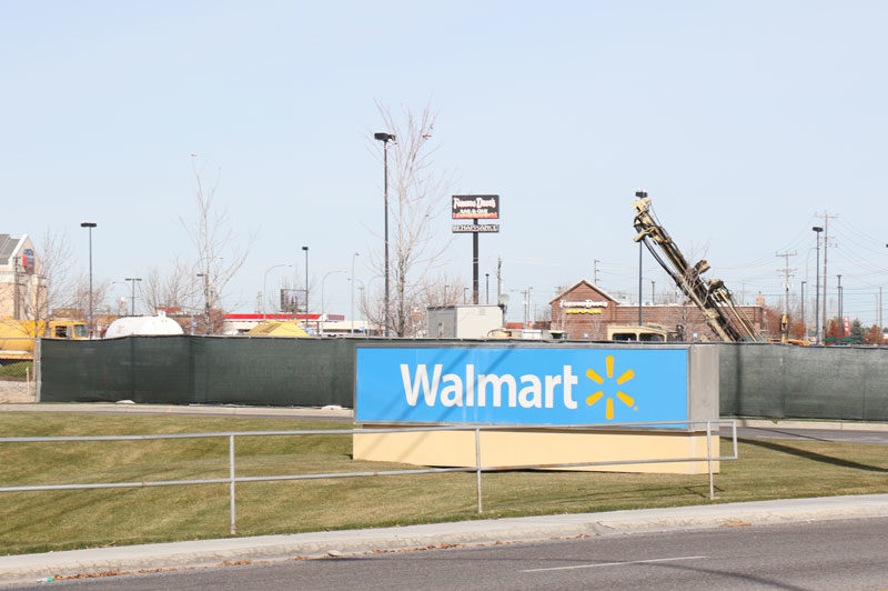 construction in front of the idaho falls walmart