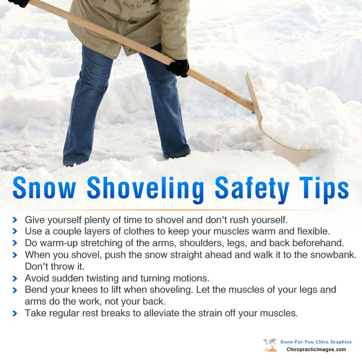 Snow shoveling? Watch your back!