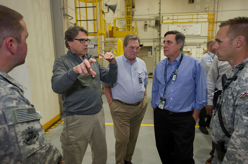IDAHO FALLS — Rick Perry made his first trip to the Gem State as the 14th  U.S. Secretary of Energy on Monday and Tuesday.