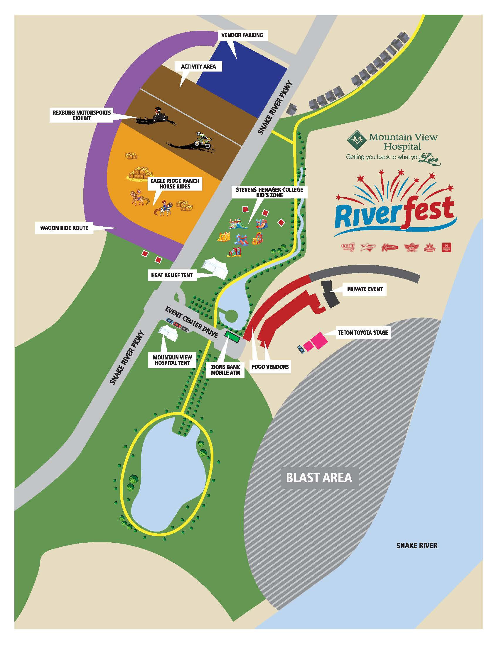 Riverfest organizers release map showing event areas East Idaho News