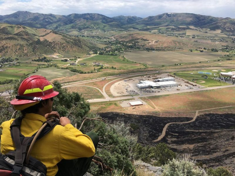Firefighters battling two blazes in Box Elder County