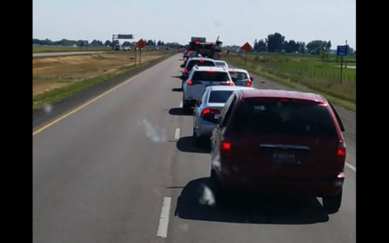 Major traffic delays on I-15 between Blackfoot and Idaho