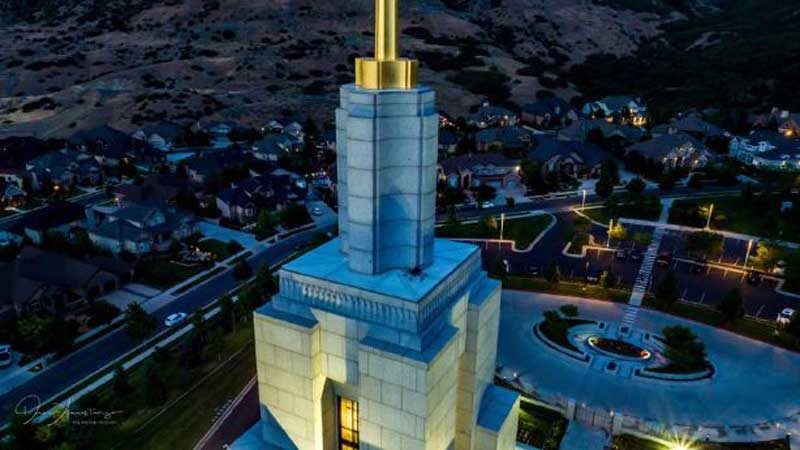 Drone crashes into LDS temple in Utah