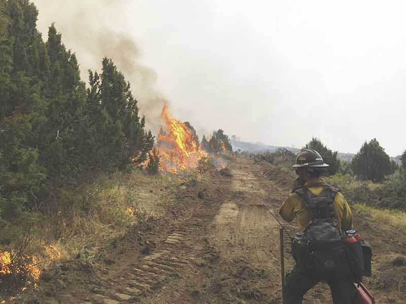 powerline fire near pocatello is 85 percent contained