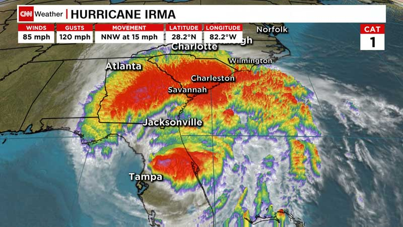 At-A-Glance: Irma spreads flooding, misery in Southeast