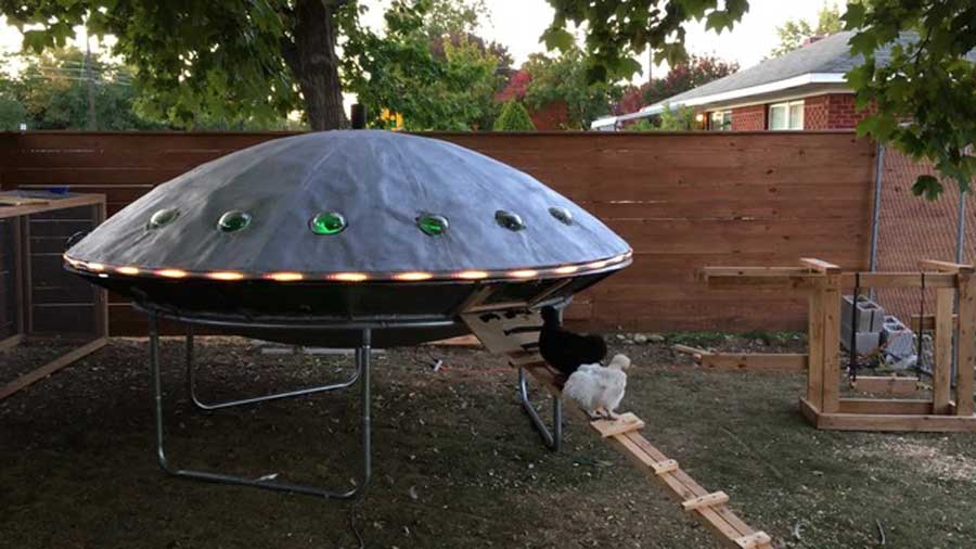 Viral Boise Ufo Chicken Coop Is Out Of This World East