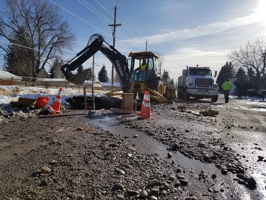 Update homes now have water after pipe break in idaho for Home builders in idaho falls