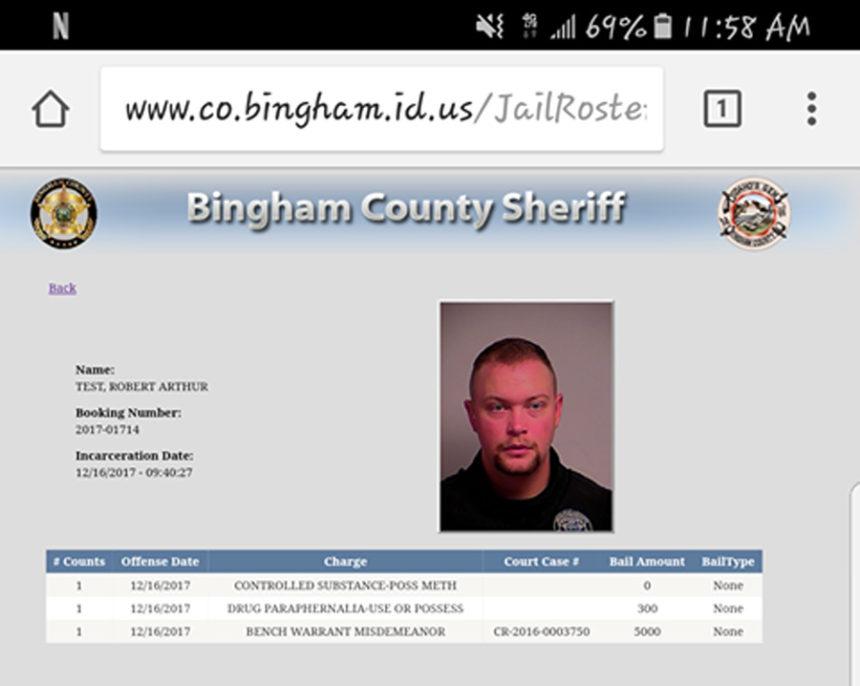 Bingham County sheriff deputy mistakenly appears on jail roster