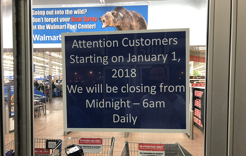 idaho falls the walmart stores in idaho falls and ammon will no longer be open 24 hours beginning new years day - Walmart Day After Christmas Hours