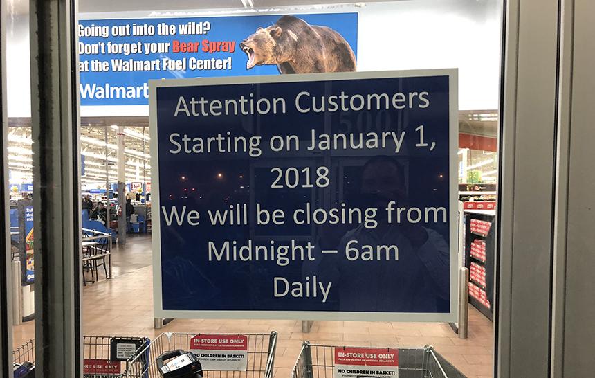 walmart store timings