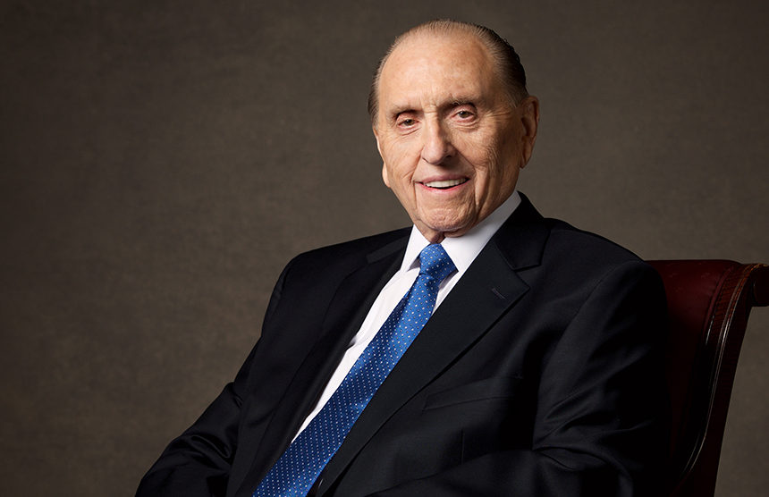 Flags lowered in honor of LDS President Thomas S. Monson
