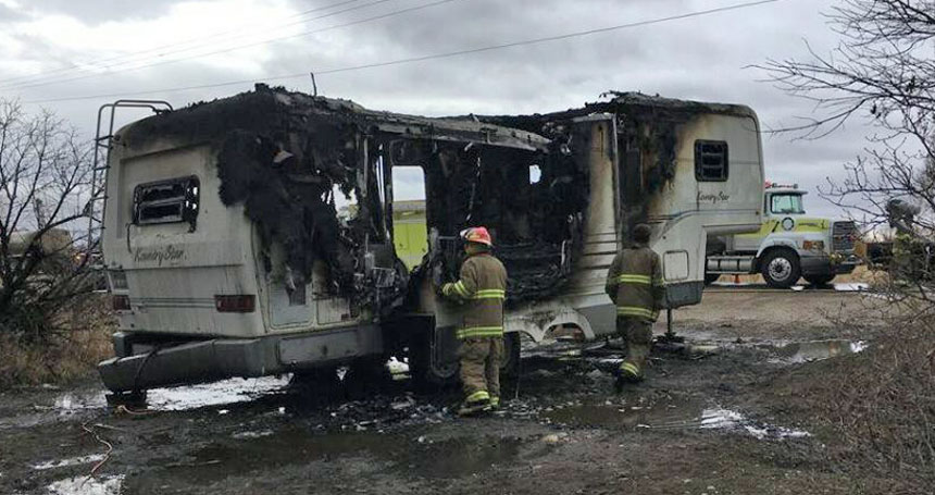 Trailer bursts into flames as man vacuums the interior | East Idaho News