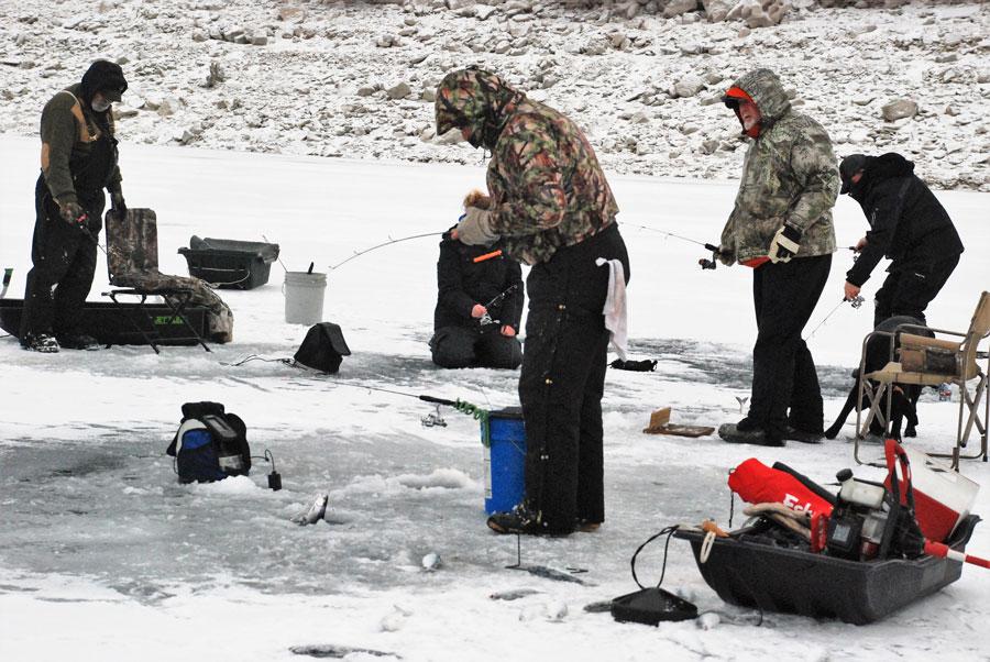 Braving the ice to lure the kokanee east idaho news for Ice fishing idaho