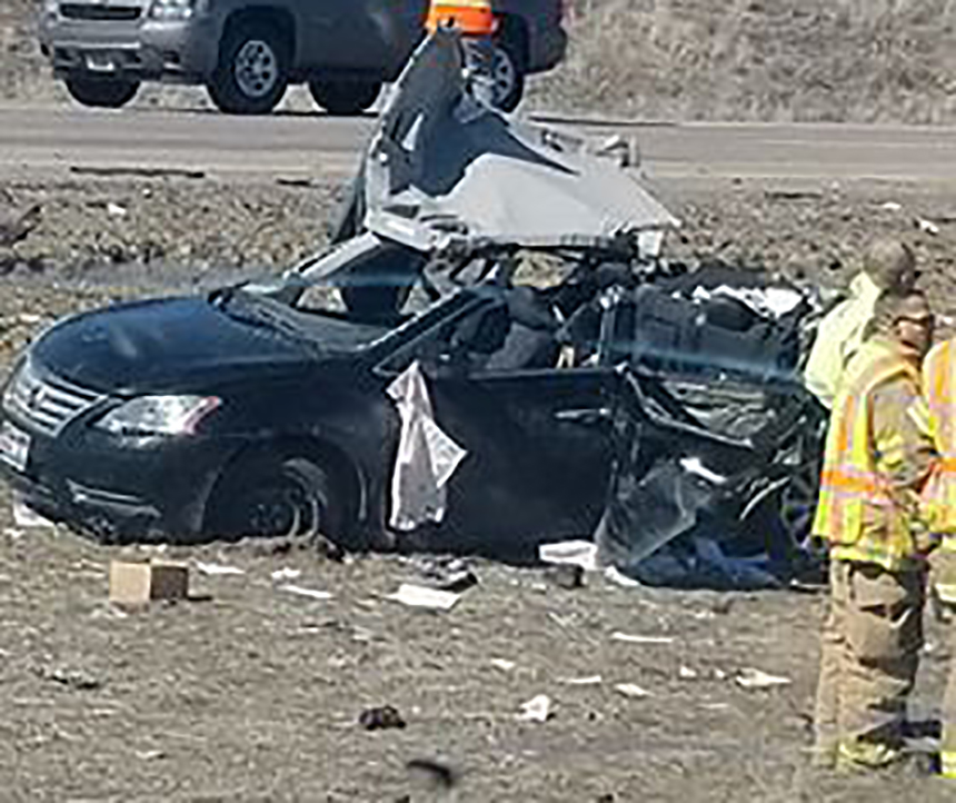 Woman killed, man rushed to hospital following I-15 crash