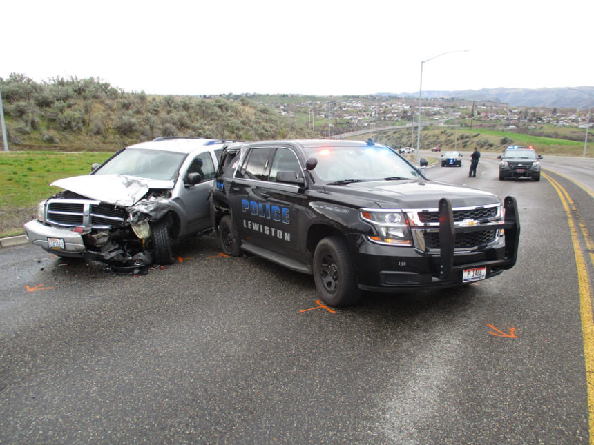 Man hospitalized after hitting parked patrol vehicle | East Idaho News