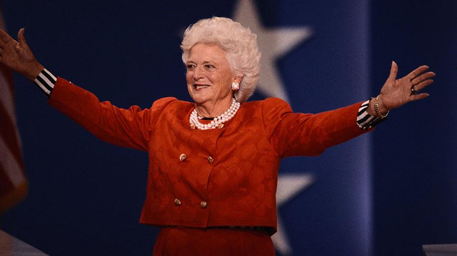 Barbara Bush, former first lady, dies at 92