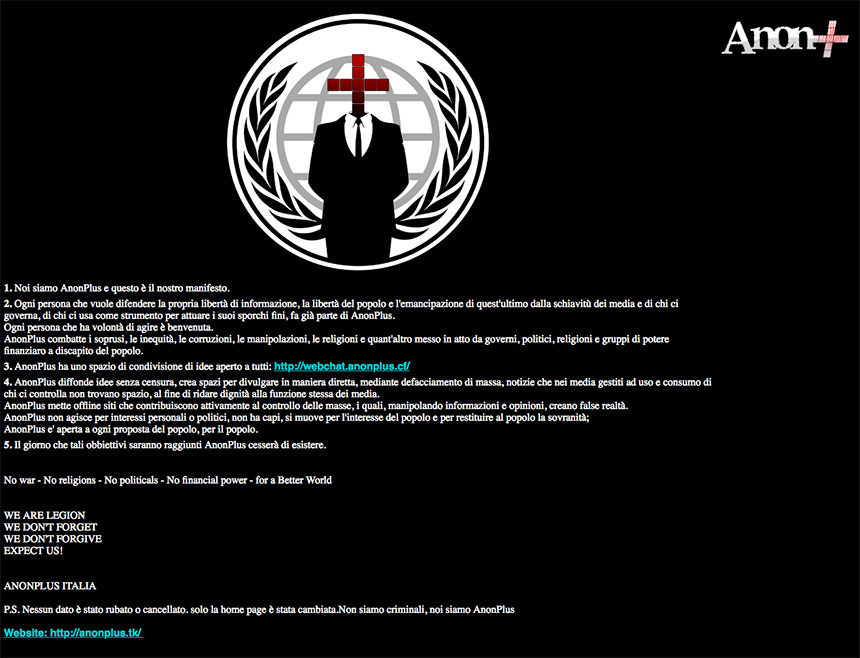 idaho legislature website hacked by italian hacktivist group east