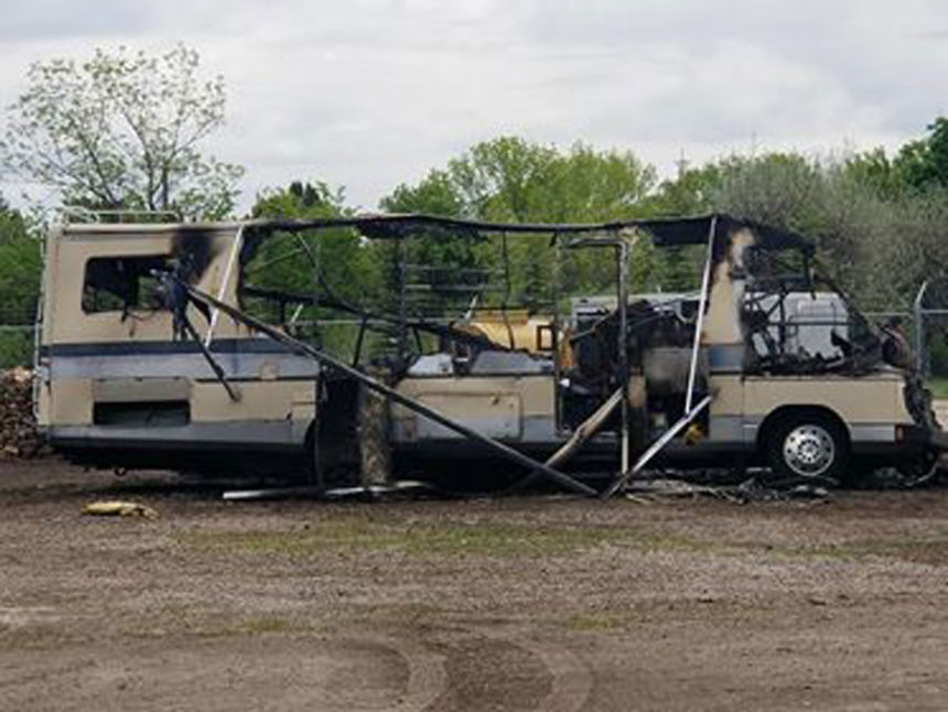 Burned out RV