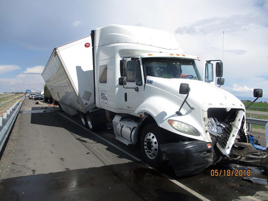 Hay truck causes six vehicle crash on I-84 | East Idaho News