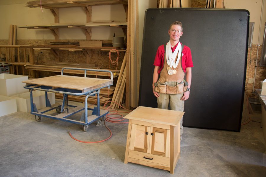 Blackfoot Representing Gem State In World Skills Cabinet Making Compeion