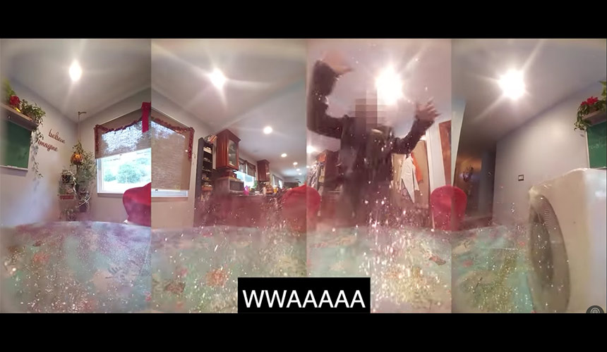 WATCH: Ex-NASA engineer creates glitter bomb trap for ...