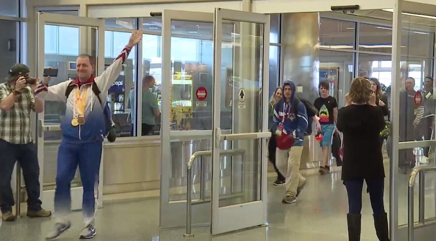 Special Olympic athletes return home to Idaho from the world