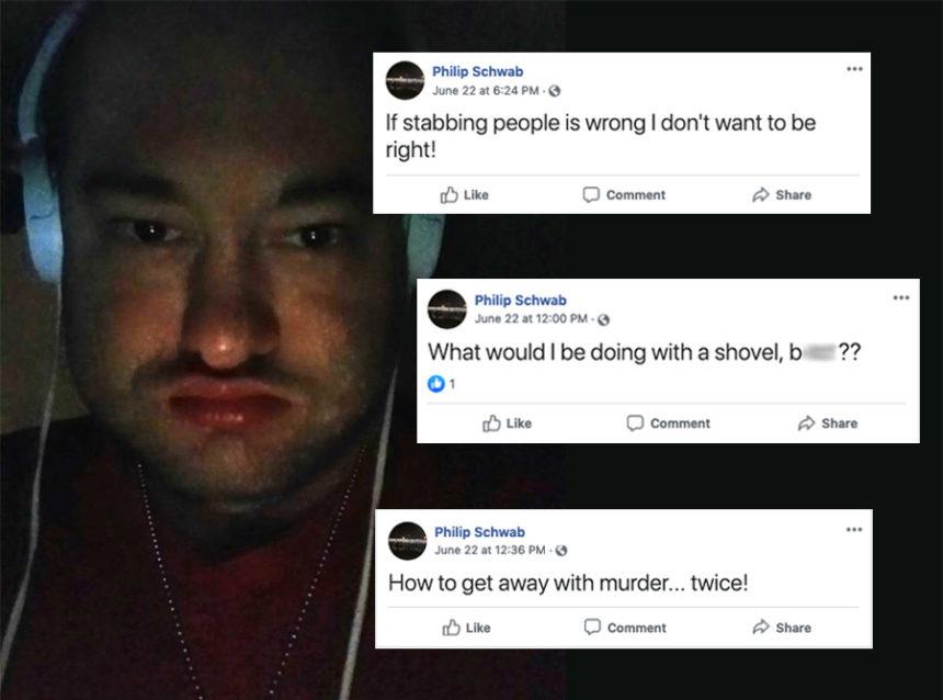 Man accused of murder had hundreds of disturbing posts on