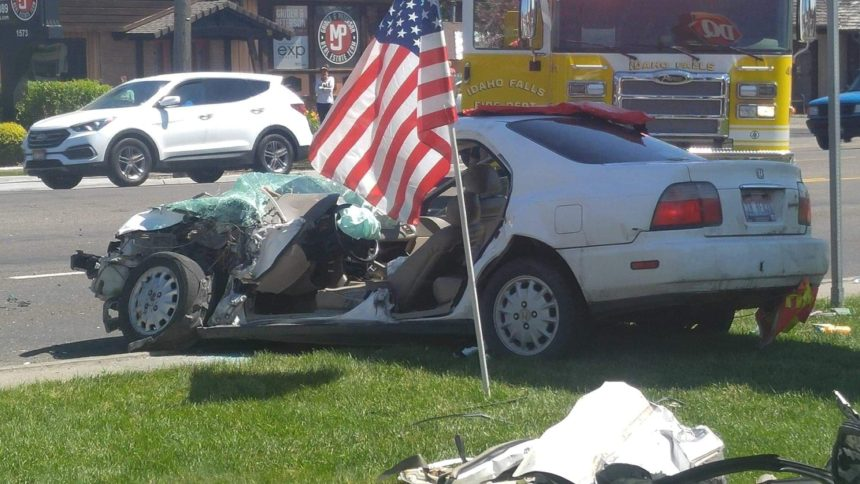 Two hospitalized after four car crash in Idaho Falls | East Idaho News