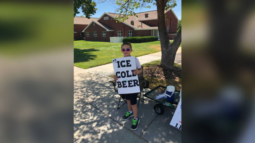11 >> An 11 Year Old S Clever Ice Cold Beer Sign Sure Got The Cops
