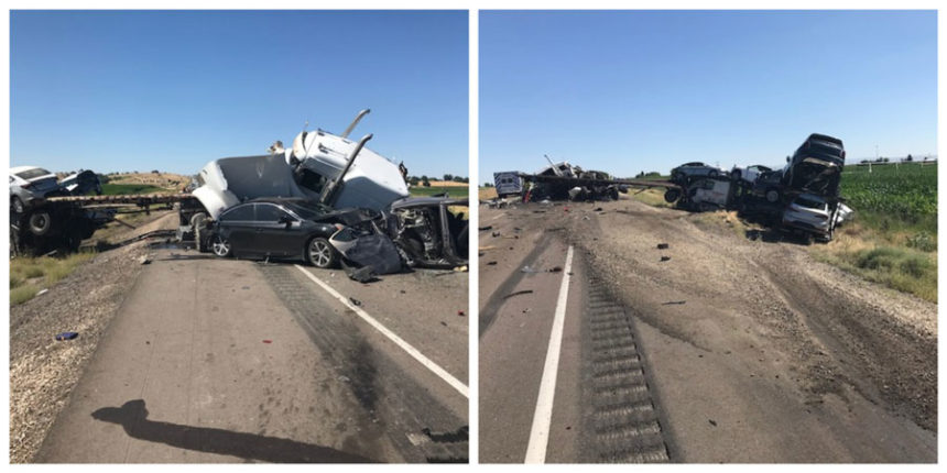 11 >> 5 People Hospitalized After 11 Car Pileup In Caldwell East Idaho News