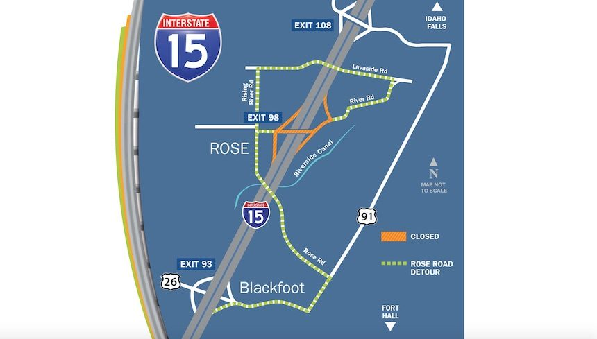 Rose Road Interchange to close this week for paving   East