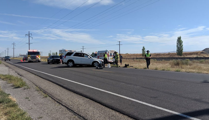 Minor two-vehicle crash blocks traffic on US 91 | East Idaho