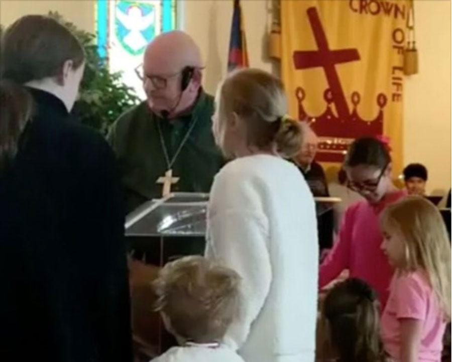 schilling at pulpit