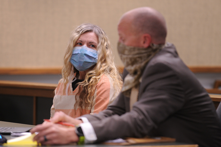 Lori Daybell in court with attorney Mark Means
