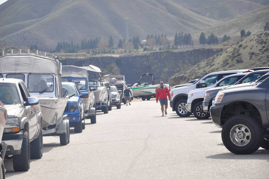 Lucky Peak Spring Shores Trafic 04.12.20 id parks and rec