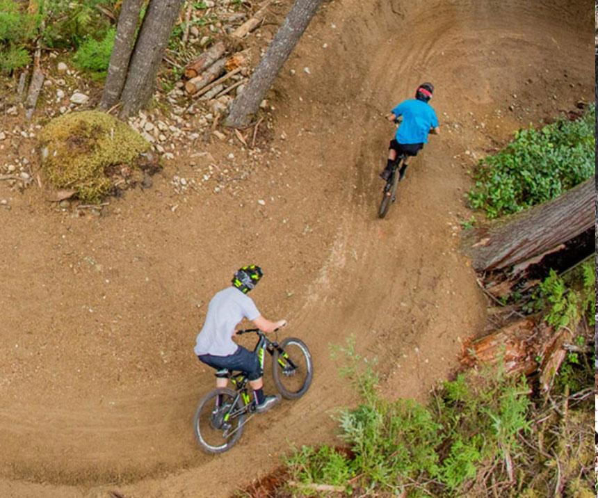 bike trails aerial shot