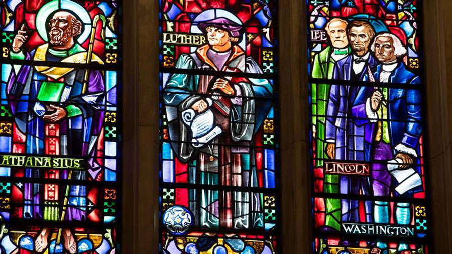Confederate General Robert E Lee, Stained Glass Pictures