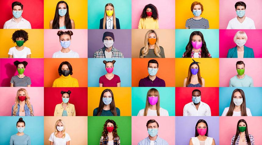 covid masks montage adobe