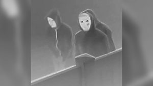 Denver Police photo of masked suspects