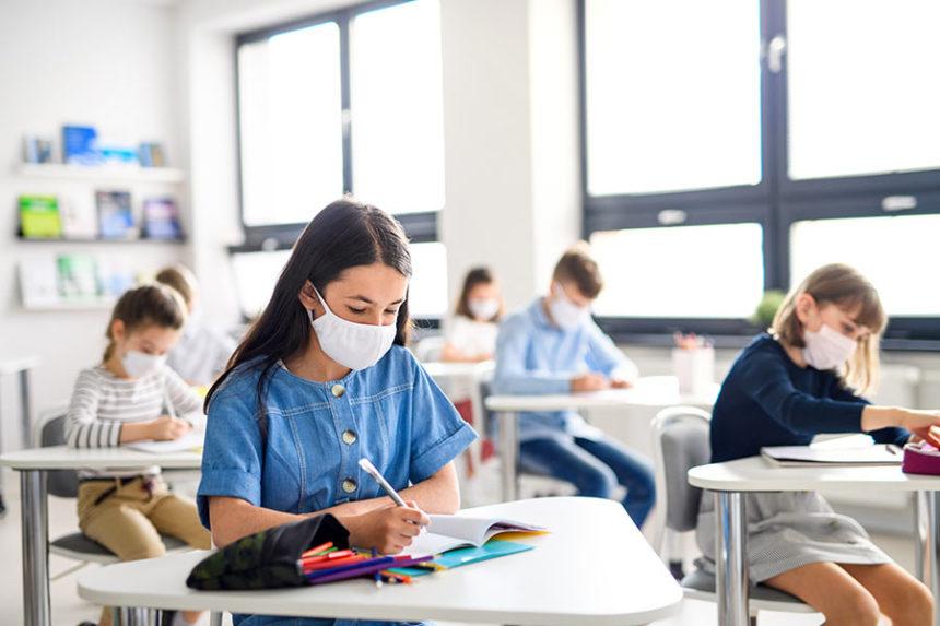 coronavirus students masks adobe