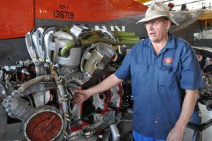 Brian Peaden shows the Bristol Centaurus engine