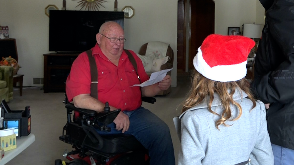 A Secret Santa surprises beloved community member with special wheelchair – East Idaho News