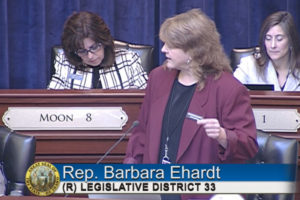 Ehardt addresses House
